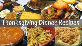 Easy THANKSGIVING DINNER Recipes // How to COOK Thanksgiving Dinner
