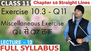 NCERT Exercise Miscellaneous Chapter 10 Straight Lines Class 11 Maths