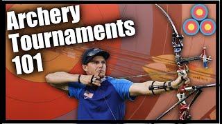 Archery Tournaments 101   Details on Target Sizes, Distances, Whistles, Time to Shoot etc.