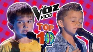TOP 10 MEJORES - LA VOZ KIDS ESPAÑA 2017 (THE VOICE KIDS ESPANHA - DEBUT 1ª AUDICIONES A CIEGAS)