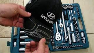HYUNDAI (К-108) 108 предметов гаечные головки и ключи в наборе.