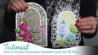 How to Create Decorative Gatefold Cards the EZ Way