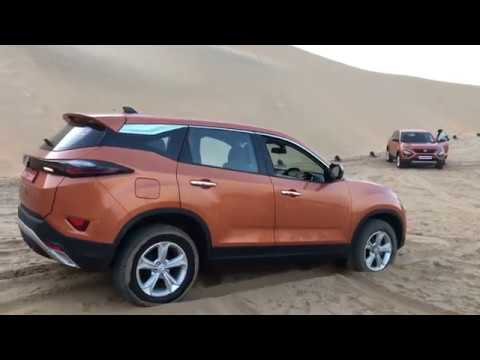 Tata Harrier Off-roading - Gets Stuck In Desert, Comes Out Easily