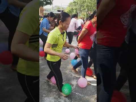 Trường Mầm non Nam Cát Tiên tham gia thi cắm hoa và trò chơi chào mừng 8/3/2018 của UBND xã Nam Cát Tiên tổ chức.