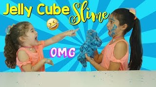 DIY GIANT JELLY CUBE SLIME! How To Make Sponge Slime