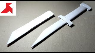 DIY - Как сделать КИНЖАЛ с ножнами из бумаги А4 своими руками?