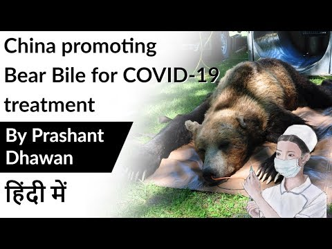 China promoting  Bear Bile for COVID-19 treatment Current Affairs 2020
