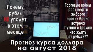 Прогноз курса доллара на август 2018: доллар-рубль, рост нефти и курс валюты рубля евро Путин-Трамп