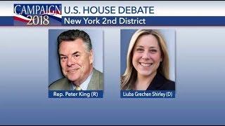 New York 2nd Congressional District Debate Peter King Vs Liuba Gretchen Shirley Oct 18 2018