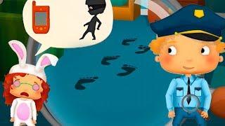 Игровой мультик про полицию и полицейский участок. Ищем преступников в детской игре