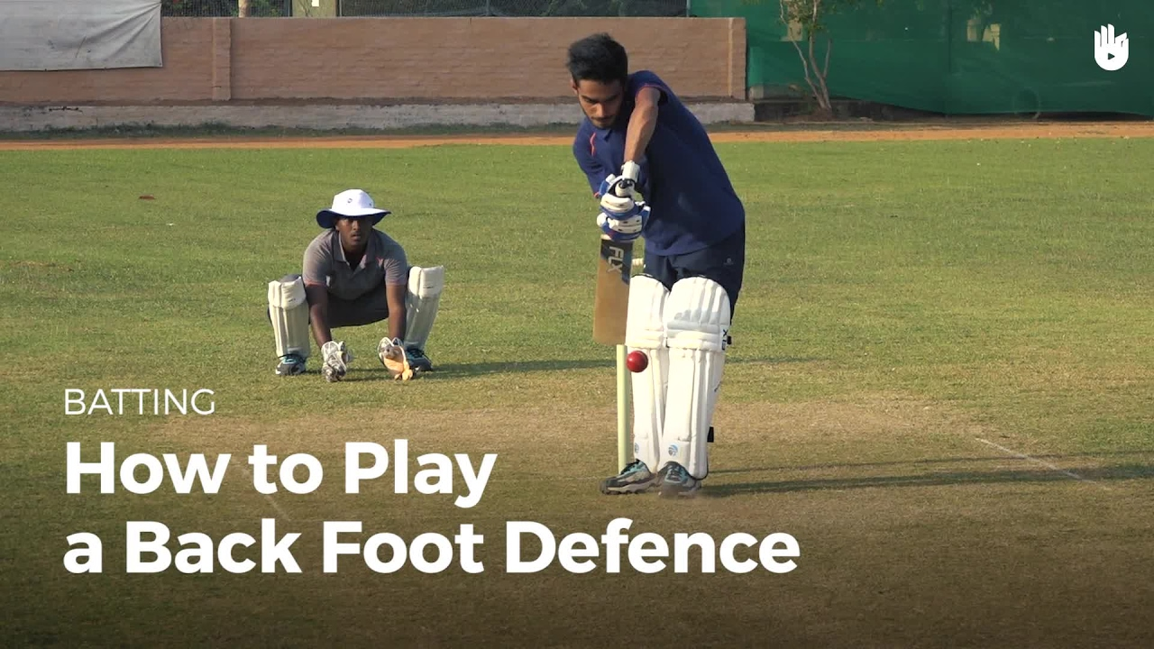 How to Play a Back Foot Defence - How to Play Cricket   Sikana