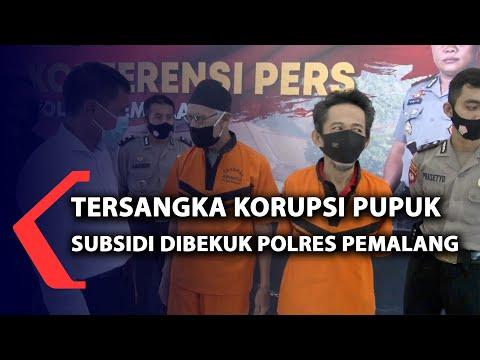 tersangka korupsi pupuk subsidi dibekuk polres pemalang