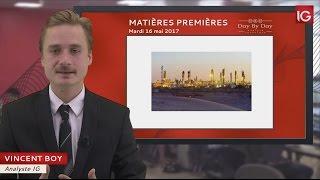 BRENT CRUDE OIL - Bourse - Cours du Pétrole Brut Brent, poursuite de la reprise - IG 16.05.2017