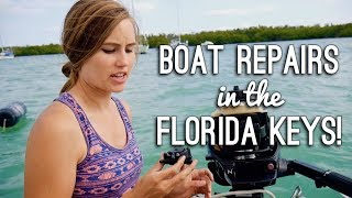 Sailboat Repairs in the Florida Keys!  - Sailing ShaggySeas Ep. 21