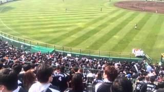 3月5日阪神VSロッテスタンリッジ投手登場の瞬間