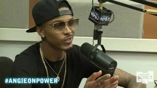 August Alsina Drops by The Angie Martinez Show 9-18-2014