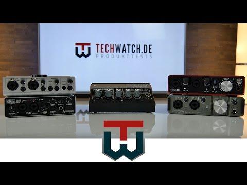 Die 5 besten USB Audio Interfaces im TechWatch Vergleich