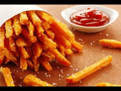 Video Healthy Fries Recipe that's good for Abs ( Sweet Potato Fries )