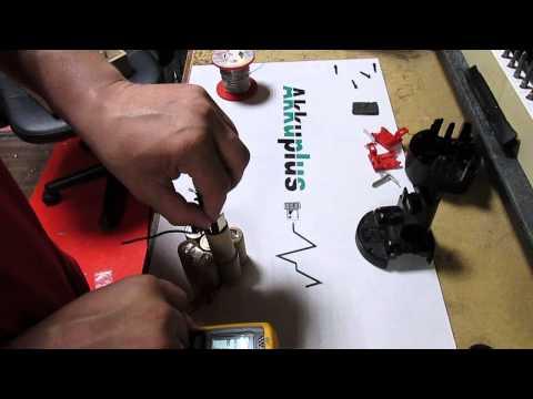 Akkureparatur - Zellentausch - Bosch 2607335529 / 2607335539 - 9,6 Volt Akku