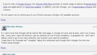 Save iGoogle - The Wall of Upset Users