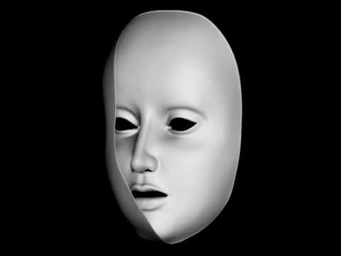 Die Masken für die Person von den Fenster