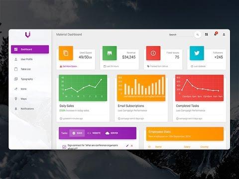 Creative-Tim Style Material Design Dashboard – C#, VB.NET – PROGRAMMING – Bunifu UI + DataVIZ