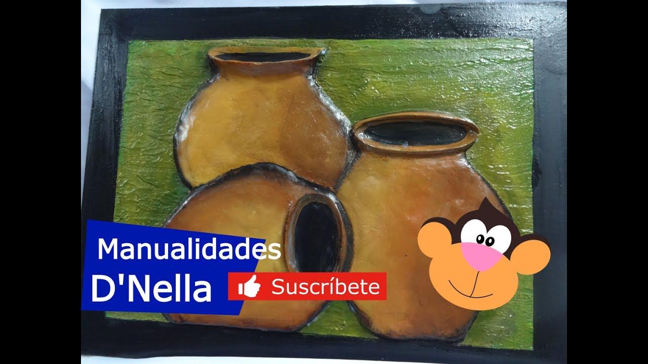 """Como Pintar Bodegones en Alto Relieve  1 Parte, By:""""Taller Nella"""""""