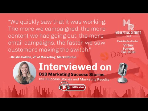 B2B Marketing Team Shifts CRM Customers to Cloud Based SaaS with Kristie Holden