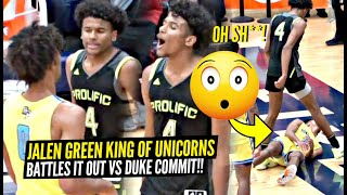 Jalen Green Is The KING of UNICORN Fam!! Wants ALL The Smoke vs Duke Commit Jaemyn Brakefield!!