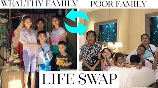 24H LIFE SWAP: WEALTHY FAMILY POOR FAMILY