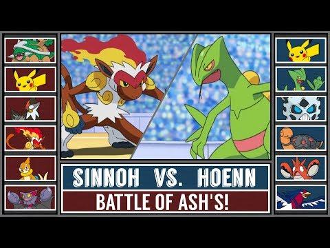 SINNOH Ash vs. HOENN Ash! (Pokémon Sun/Moon) - Battle of Ash's