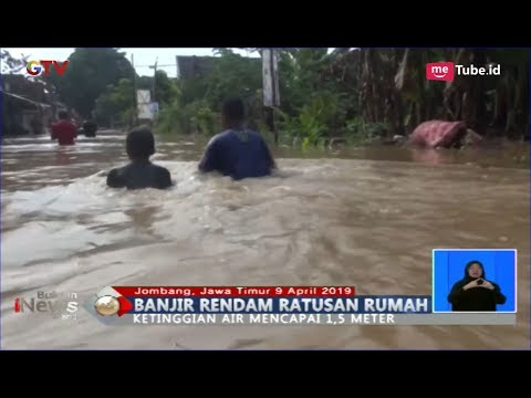 Ratusan Rumah 2 Kecamatan di Jombang Terendam Banjir 1 Meter - BIS 09/04