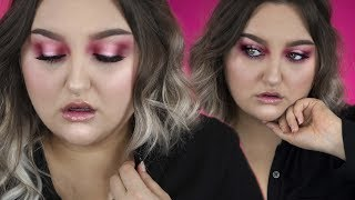 TRYING NEW MAKEUP | PINK HALO EYE Chatty Tutorial | MAC, KAT VON D etc..