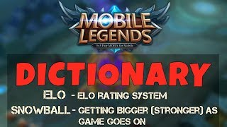 Mobile Legends Dictionary Terminologies And Abbreviations Meaning Of Words Mobile Legends Bang Bang