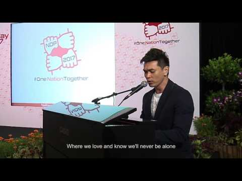 NDP 2017 Theme Song  - Because It's Singapore Live Performance by Jay Lim
