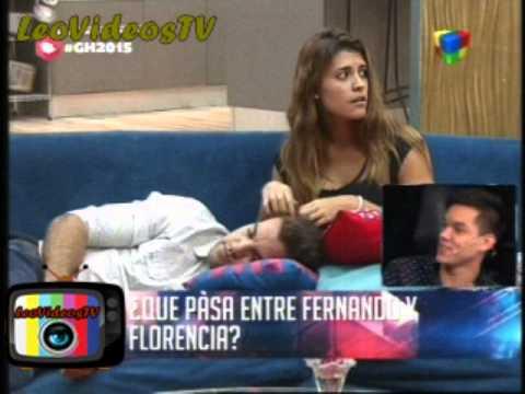 Que pasa entre Fernando y Florencia GH 2015 #GH2015 #GranHermano
