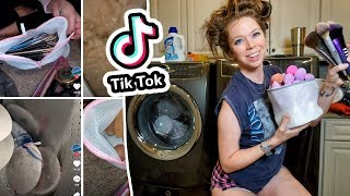 What Happens When You Wash Makeup Brushes in the WASHING MACHINE?! (Viral TikTok Hack TESTED)