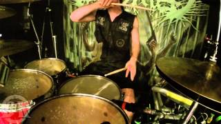 ABORTED@ The Holocaust Incarnate-Live in Cracow-Poland 2014 (Drum Cam)