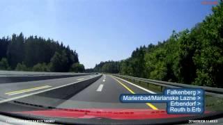 preview picture of video 'Niemcy (Duetschland) A93 Marktredwitz Süd - Kreuz Oberpfälzer Wald x3'