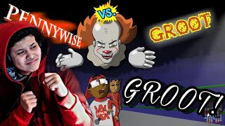 INDURZE REACTS TO:Pennywise Vs Groot - Cartoon Beatbox Battles