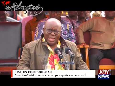 Pres. Akufo-Addo recounts bumpy experience on stretch - Unscripted on JoyNews (16-7-18)