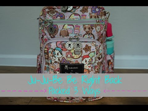 Ju-Ju-Be Be Right Back Packed 3 Ways! | Everyday Packing JuJuBe Be Right Back  | Packing for twins