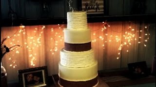 Making A Buttercream & Burlap Wedding Cake!