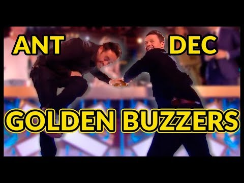 Top 10 ANT and DEC 's GOLDEN BUZZERS and BEST MOMENTS EVER! (видео)