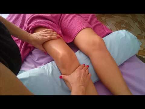 Un disparo en la articulación de la rodilla de vídeo
