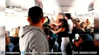 Girls Fighting on Plane @Hodgetwins