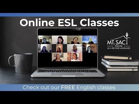 Mt. SAC Online ESL Program - Check out our free online classes!