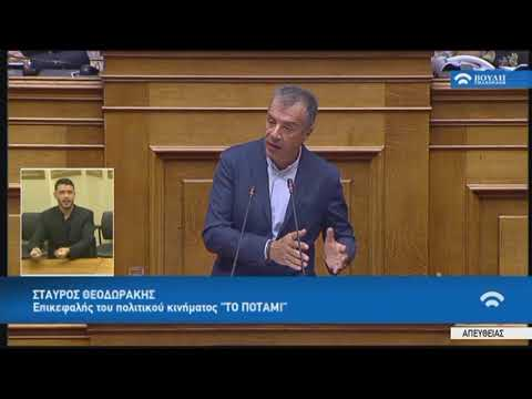 """Σ.Θεοδωράκης(Επικεφαλής """"Ποτάμι"""")(Πρόταση δυσπιστίας κατά της Κυβέρνησης)(16/06/2018)"""