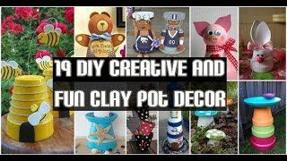 19 DIY Creative And Fun Clay Pot Decor