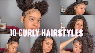 10 Hairstyles For Curly Hair | Natural Hair